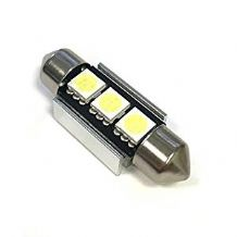 2x White 3-SMD LED Canbus Festoon 12v Interior/Number Plate Bulb